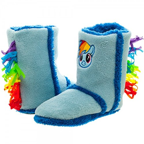 Adult size My Little Pony Rainbow Dash Boot Slippers – 3 sizes