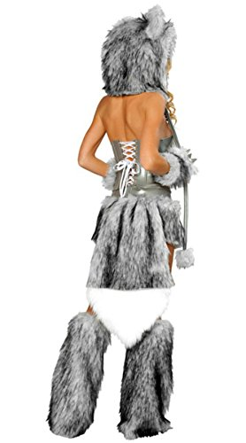 Ailisen-2017-New-Sexy-Wolf-Girl-Costume-Halloween-  sc 1 st  Halloween Costumes Best & Ailisen 2017 New Sexy Wolf Girl Costume Halloween Furry Costumes For ...