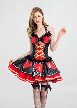 Alice-Costume-Desses-Belle-Princess-Enchanted-Womens-Pretty-Playing-Card-Queen-Costume-0-1