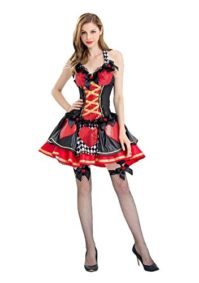 Alice-Costume-Desses-Belle-Princess-Enchanted-Womens-Pretty-Playing-Card-Queen-Costume-0