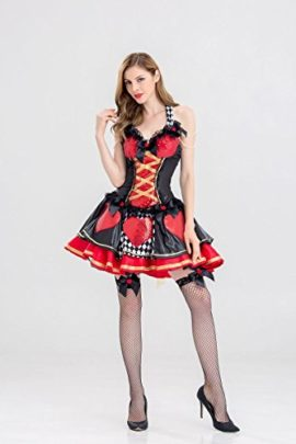 Alice-Costume-Desses-Belle-Princess-Enchanted-Womens-Pretty-Playing-Card-Queen-Costume-0-2