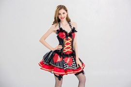 Alice-Costume-Desses-Belle-Princess-Enchanted-Womens-Pretty-Playing-Card-Queen-Costume-0-4