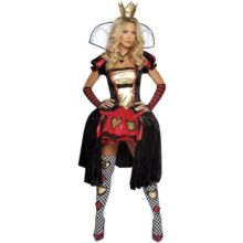 Alice-in-Wonderland-Wicked-Wonderland-Queen-Adult-Costume-Size-6-10-MediumLarge-0