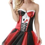 AlivilaY-Fashion-Womens-Sexy-Cosplay-Halloween-Costume-Set-21691-Blackred-2XL-0