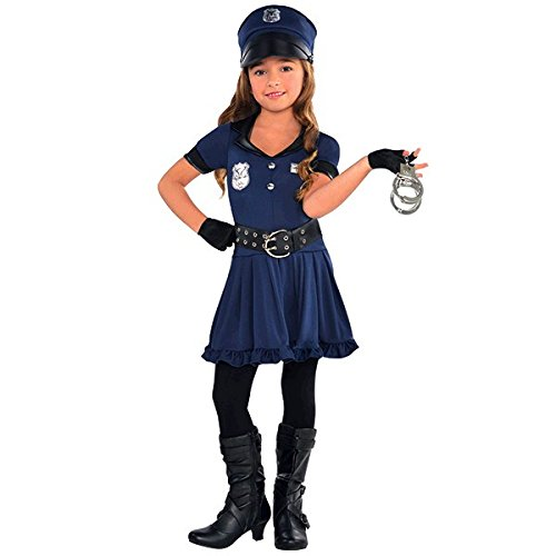 Amscan Cutie Cops and Robbers Party Policewoman Costume (7 Piece)