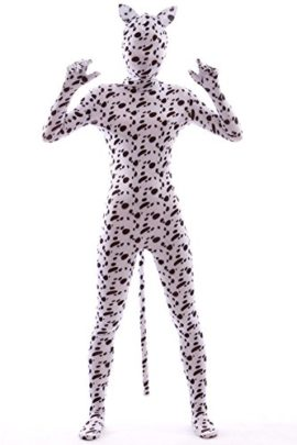 Animal-Costume-Spotty-Dog-Dress-Up-Rabbit-Ear-Kids-Zentaisuit-Lycra-Spandex-Bodysuit-0-1