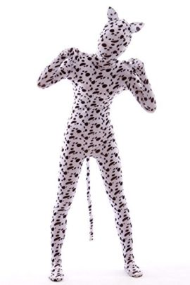 Animal-Costume-Spotty-Dog-Dress-Up-Rabbit-Ear-Kids-Zentaisuit-Lycra-Spandex-Bodysuit-0-4