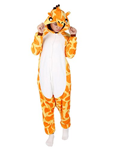 Animal Pajamas Unisex Giraffe One Piece Sleepwear Cosplay Costume