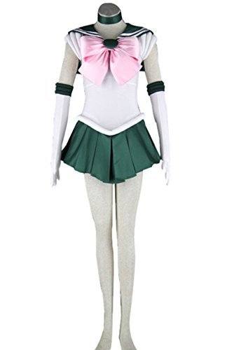 Another Me Women's Costume Anime Sailor Moon Makoto Kino Jupiter Cosplay Outfit Uniform Dress Female
