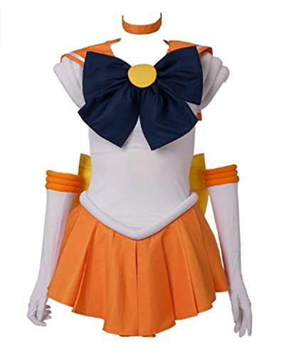 Another Me Women's Costume Sailor Moon Minako Aino Venus Cosplay Outfit Uniform Dress Suit Female