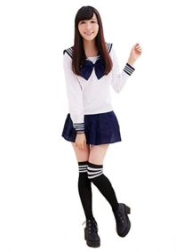 Aoibox-Womens-School-Uniform-Sailor-Dress-Sailor-Suit-Cosplay-Costume-0