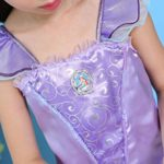 Ariel-DressMermaid-tail-Ruffle-Sleeve-Dresses-for-Girl-Princess-Christmas-Custome-0-3