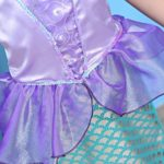 Ariel-DressMermaid-tail-Ruffle-Sleeve-Dresses-for-Girl-Princess-Christmas-Custome-0-4