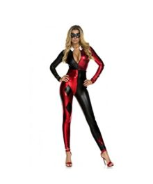 Batman-Gotham-City-Harley-Quinn-Catsuit-Womens-Sexy-Halloween-Costume-0