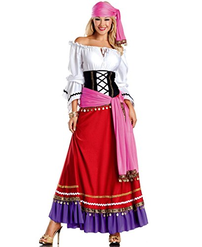 Be Wicked BW1286 Tempting Gypsy Sexy Adult Halloween Costume