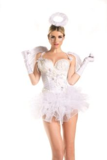 Be-Wicked-Womens-2-Piece-2-For-1-White-Swan-Angel-0