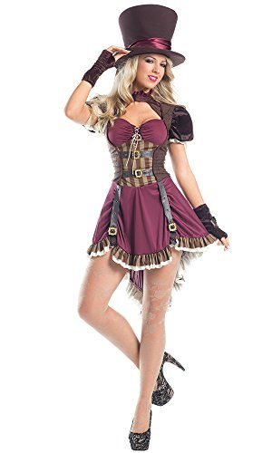 Be-Wicked-Womens-3-Piece-Steam-Punk-Mad-Hatter-0