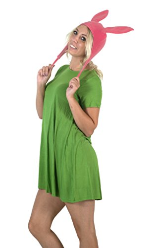 Bobs-Burgers-Louise-Hat-with-Green-Dress-Costume-  sc 1 st  Halloween Costumes Best & Bobu0027s Burgers Louise Hat with Green Dress Costume Set - Halloween ...