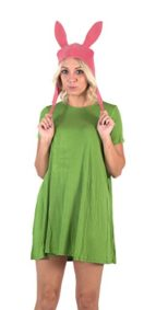 Bobs-Burgers-Louise-Hat-with-Green-Dress-Costume-Set-0