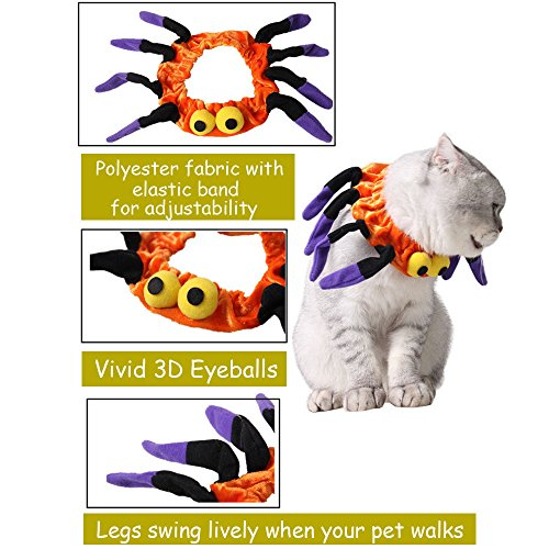 Bolbove-Adjustable-Spider-Halloween-Pet-Neck-Wear-for-Cats-Small-Dogs-Party-Costume-Free-size-0-0