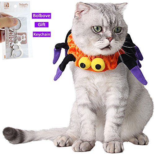 Bolbove-Adjustable-Spider-Halloween-Pet-Neck-Wear-for-Cats-Small-Dogs-Party-Costume-Free-size-0-1