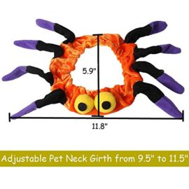 Bolbove-Adjustable-Spider-Halloween-Pet-Neck-Wear-for-Cats-Small-Dogs-Party-Costume-Free-size-0-4