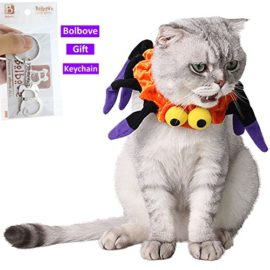 Bolbove-Adjustable-Spider-Halloween-Pet-Neck-Wear-for-Cats-Small-Dogs-Party-Costume-Free-size-0-5