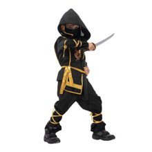CHNS-Boy-Kids-Toddler-Ninja-Assassin-Fancy-Dress-Up-Party-Costume-Halloween-Outfit-0