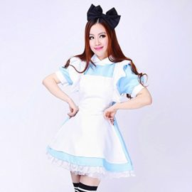COCONEEN-Anime-Cosplay-Costume-French-Maid-Outfit-Halloween-0-1