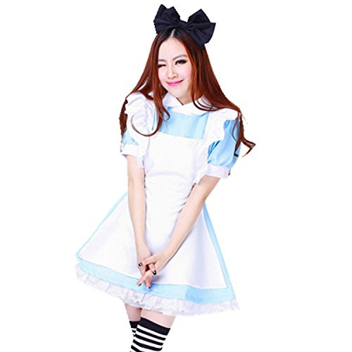 Treasure-box Blue Maid Dress Lolita Maid Cosplay Costume