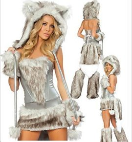 COMVIP-Halloween-Hairy-Wolf-Cat-Cosplay-Sexy-Animal-Costume-0-0