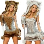 COMVIP-Halloween-Hairy-Wolf-Cat-Cosplay-Sexy-Animal-Costume-0-1