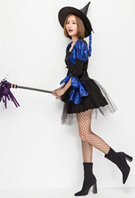 COMVIP-Halloween-Witch-Cosplay-Corset-Dress-3-Pieces-Costumes-Blue-0-2
