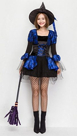COMVIP-Halloween-Witch-Cosplay-Corset-Dress-3-Pieces-Costumes-Blue-0-4
