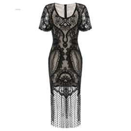 COSYOU-Womens-Pencil-Dress-Vintage-See-Through-Floral-Lace-Fringe-Cocktail-Dress-0-1