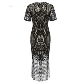 COSYOU-Womens-Pencil-Dress-Vintage-See-Through-Floral-Lace-Fringe-Cocktail-Dress-0-2