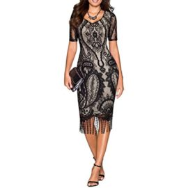 COSYOU-Womens-Pencil-Dress-Vintage-See-Through-Floral-Lace-Fringe-Cocktail-Dress-0