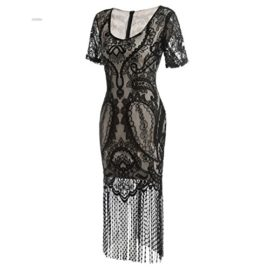 COSYOU-Womens-Pencil-Dress-Vintage-See-Through-Floral-Lace-Fringe-Cocktail-Dress-0-3
