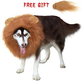 CPPSLEE-Lion-Mane-Wig-Costume-Make-Your-Dog-Lion-King-Adjustable-Washable-Comfortable-Fancy-Lion-Hair-Dog-Clothes-Dress-for-Halloween-Brown-With-tail-ear-0-1