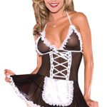 CZXING-Sexy-Maid-Dress-Skirt-Transparent-Gauze-Babydoll-Lingerie-Plus-Size-0