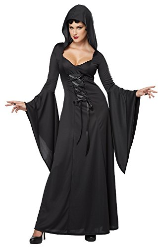 California Costumes Women's Deluxe Hooded Robe Sexy Long Dress