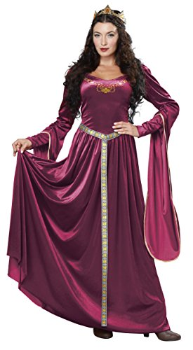 California Costumes Women's Lady Guinevere Costume / Berry