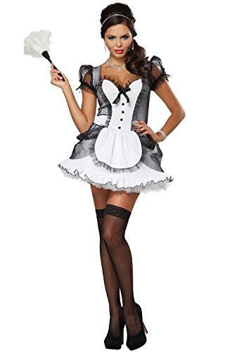 California Costumes Women's Luxe French Maid Sexy Dress Costume