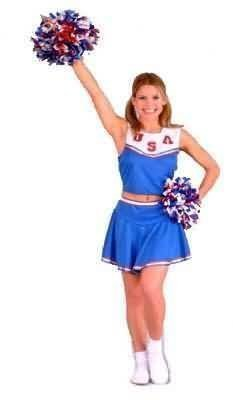 California Costumes Women's Patriotic Cheerleader Costume