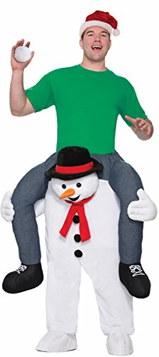 Carry Me Cold Shoulder Snowman Adult Men Women Costume Christmas Day Ride On