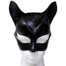 Cat-Mask-Deluxe-Black-Latex-Bat-Women-Halloween-Party-Cosplay-Costume-Accessory-0