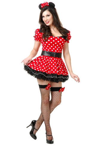 Charades Women's Miss Mouse Pin Up Costume Set