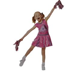 Cheerleader-Girls-SMALL-4-6-Halloween-Costume-Cheer-Leader-w-Pompoms-Poms-Dress-0
