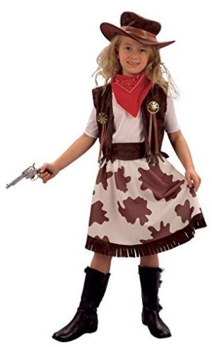 Child-Fancy-Dress-CowgirlCowprint-Costume-Large-146-158-cm-Age-11-13-by-Bristol-Novelties-0