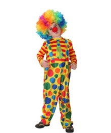 Child-Hoopy-the-Clown-Costume-Kids-Circus-Halloween-Costume-Make-up-0